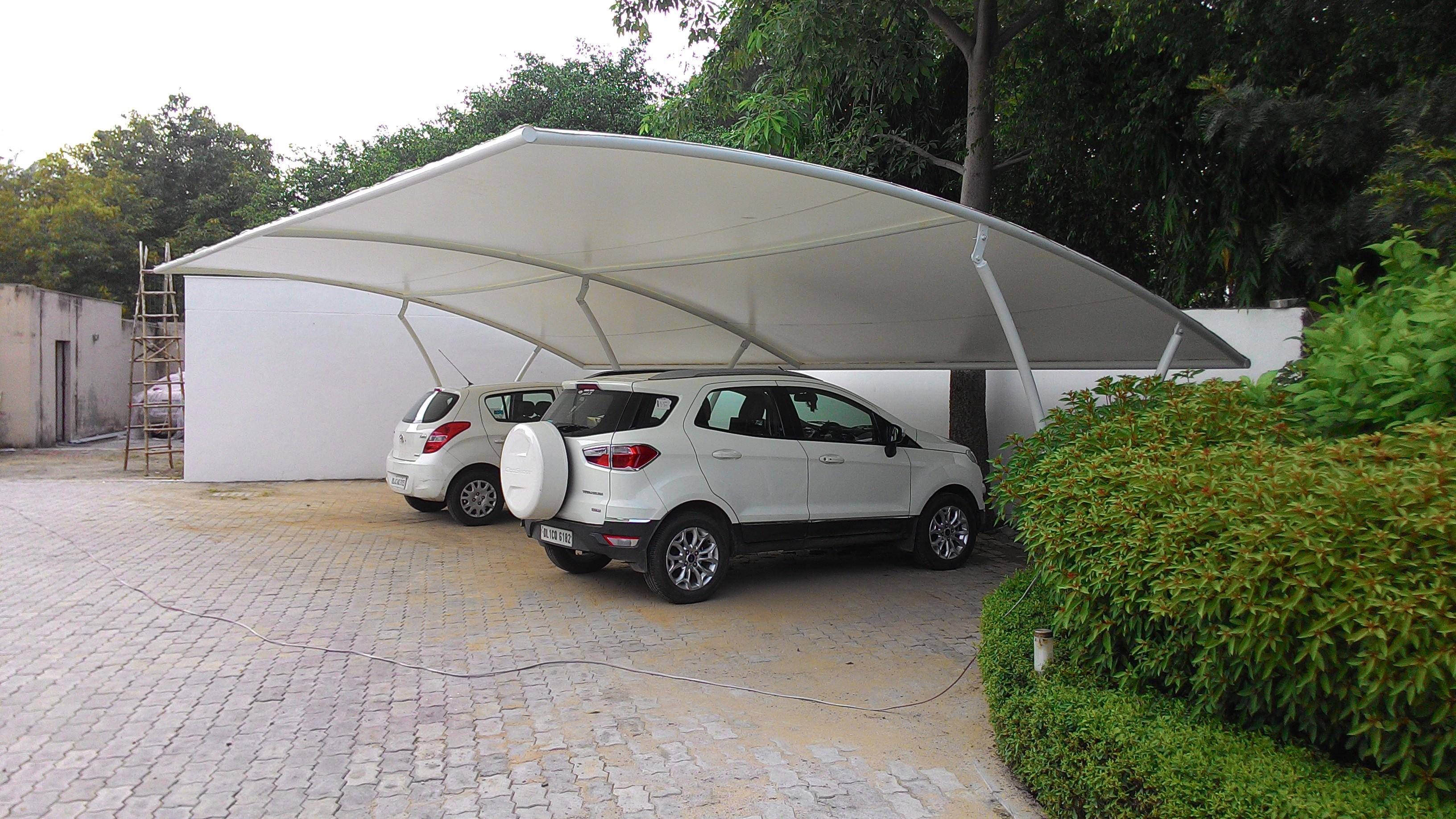 Tensile Car Parking Structure Tensile Car Parking In
